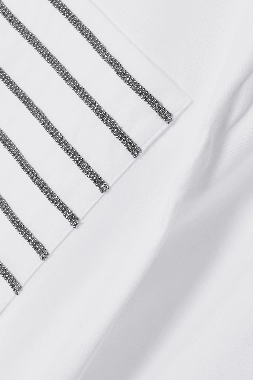 Brunello Cucinelli Bead-embellished cotton-blend poplin shirt