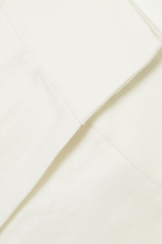 Brunello Cucinelli Hose aus einer Leinen-Baumwollmischung mit Falten