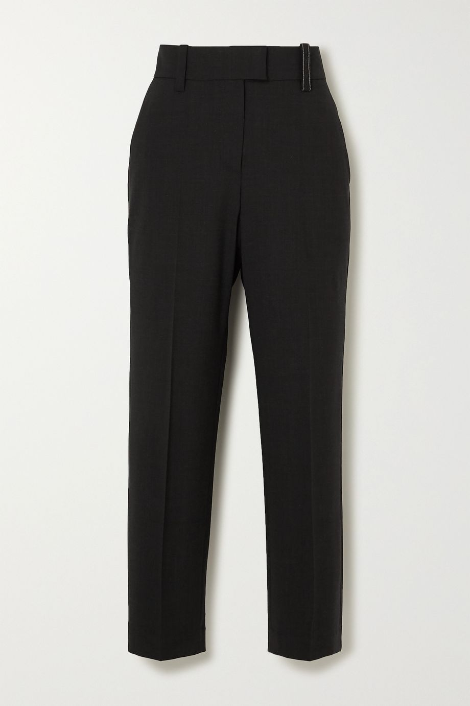 Brunello Cucinelli Embellished wool-blend tapered pants
