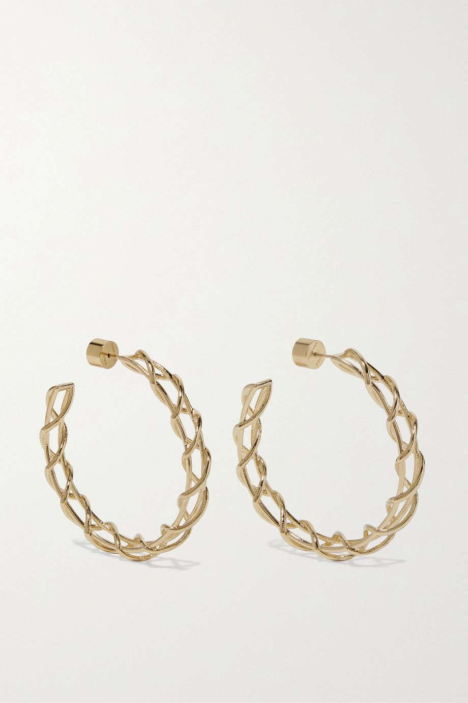 Jennifer Fisher Baby Lace Up gold-plated hoop earrings