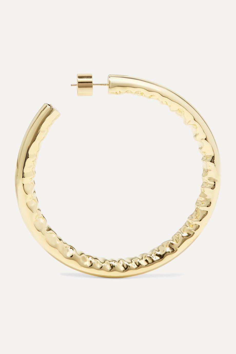 """Jennifer Fisher 2"""" Jennifer gold-plated hoop earrings"""
