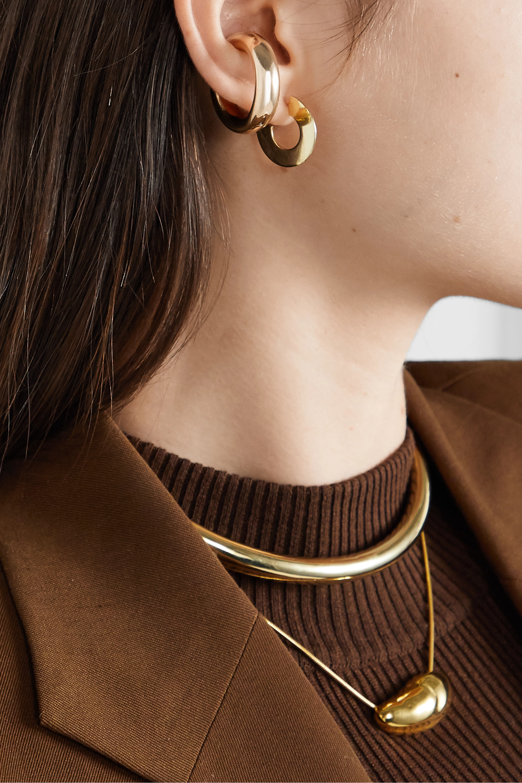 Jennifer Fisher Drew Huggies gold-plated hoop earrings