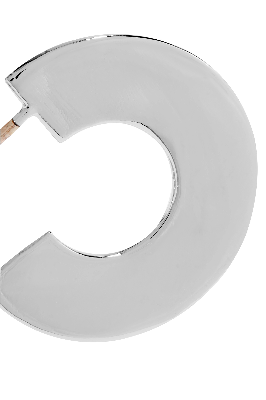 Jennifer Fisher Drew Huggies 镀银圈形耳环