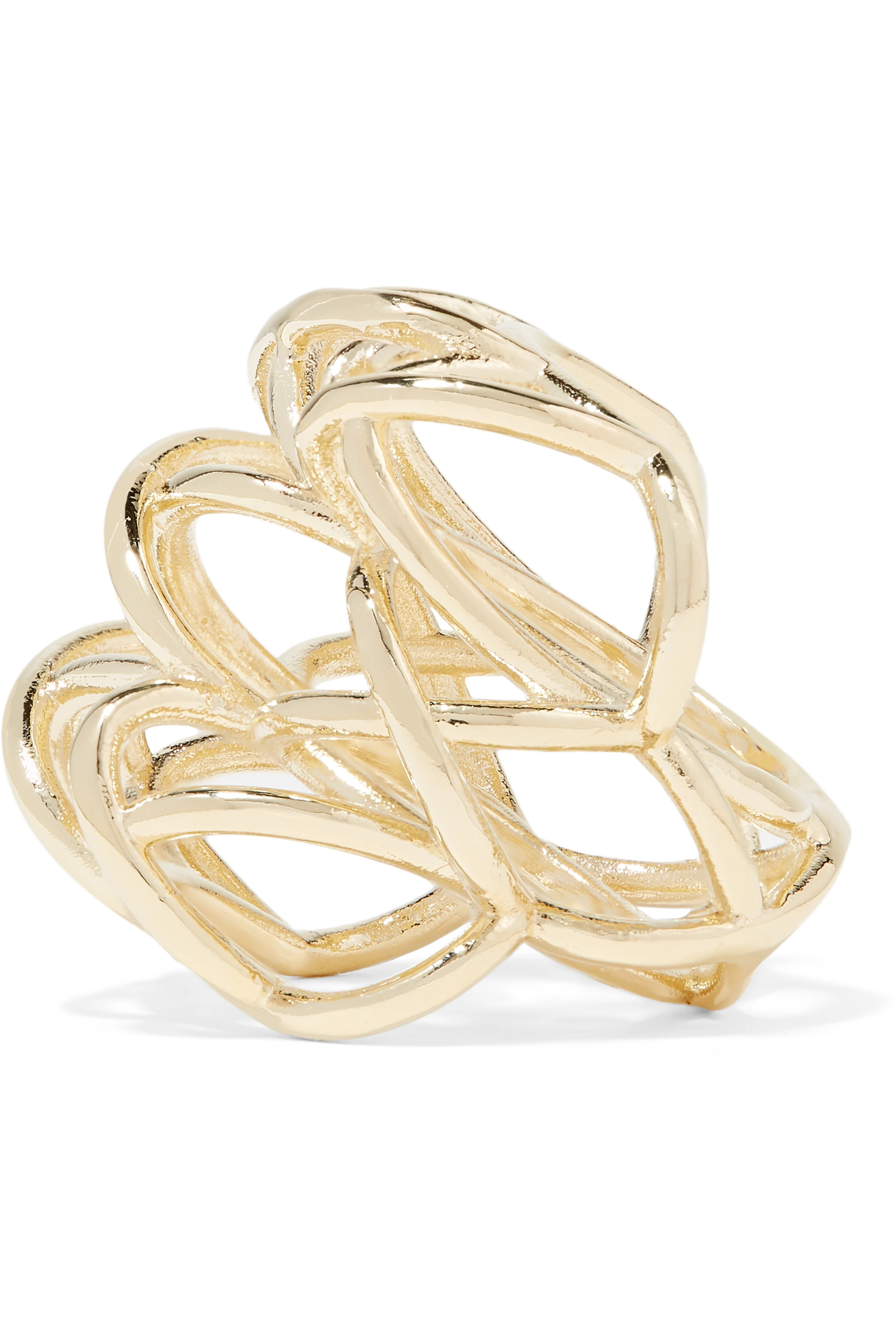 Jennifer Fisher Lace Up gold-plated ring