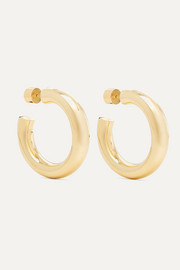 Mini Kevin gold-plated hoop earrings