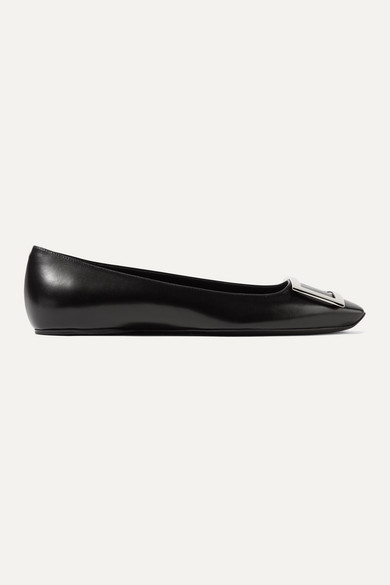 Roger Vivier Shoes Trompette Bellerine glossed-leather ballet flats