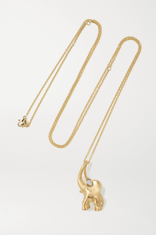 Elephant Kette aus 18 Karat Gold mit Diamanten