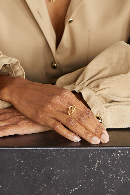 OLE LYNGGAARD COPENHAGEN Snake 18-karat gold diamond ring