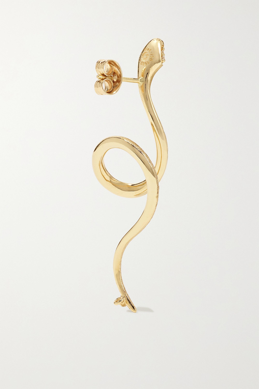 OLE LYNGGAARD COPENHAGEN Snakes 18-karat gold diamond earring