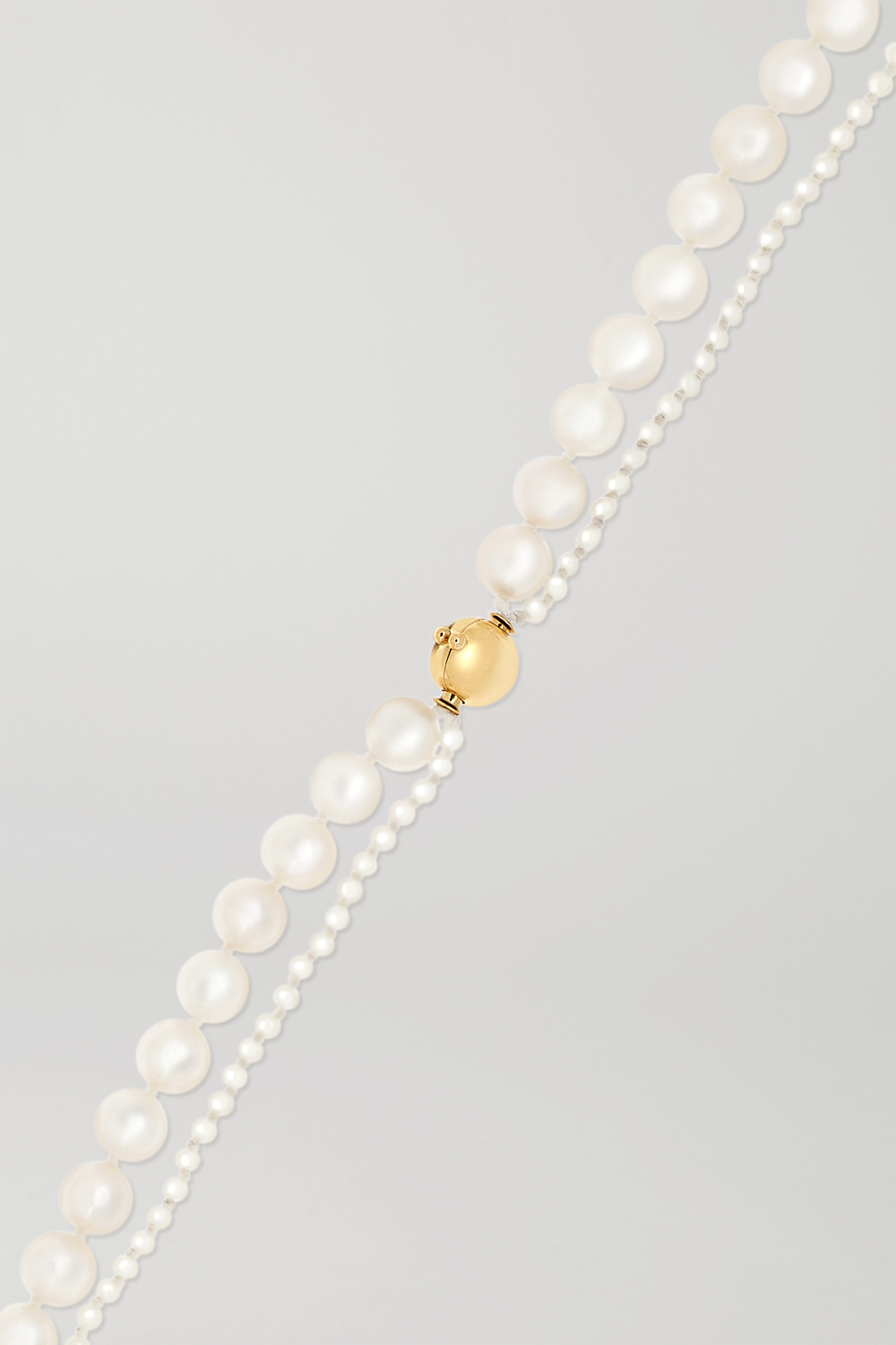 Sophie Bille Brahe Peggy Deux 14-karat gold pearl necklace
