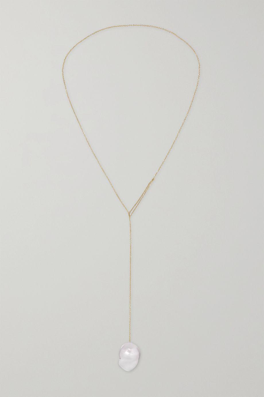 Sophie Bille Brahe Sirene 14-karat gold pearl necklace