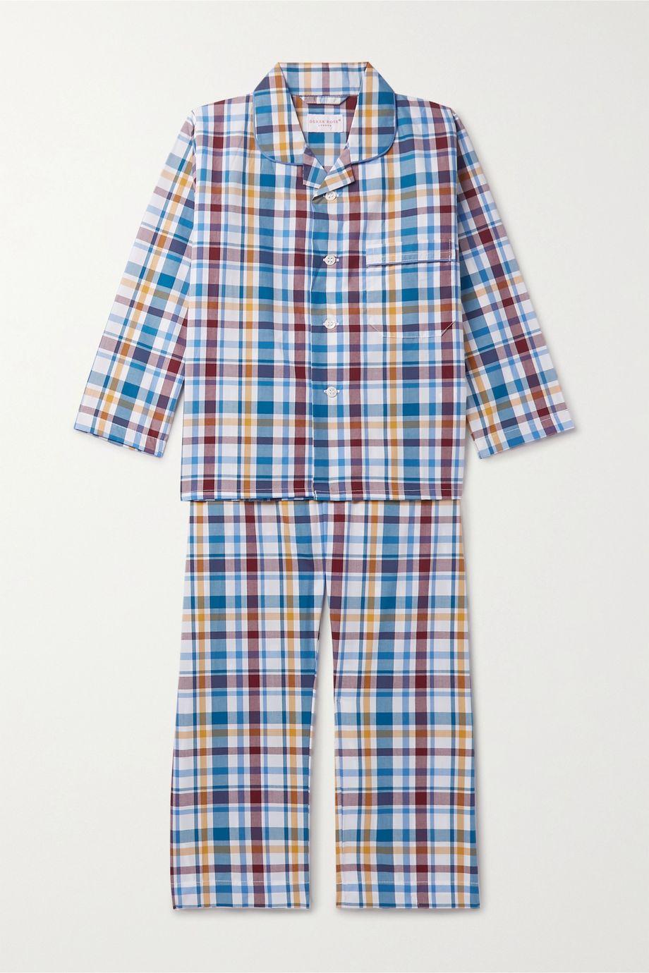 Derek Rose Kids Ages 3 - 12 checked cotton pajama set