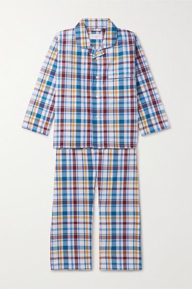 Derek Rose Kids - Ages 3 - 12 Checked Cotton Pajama Set