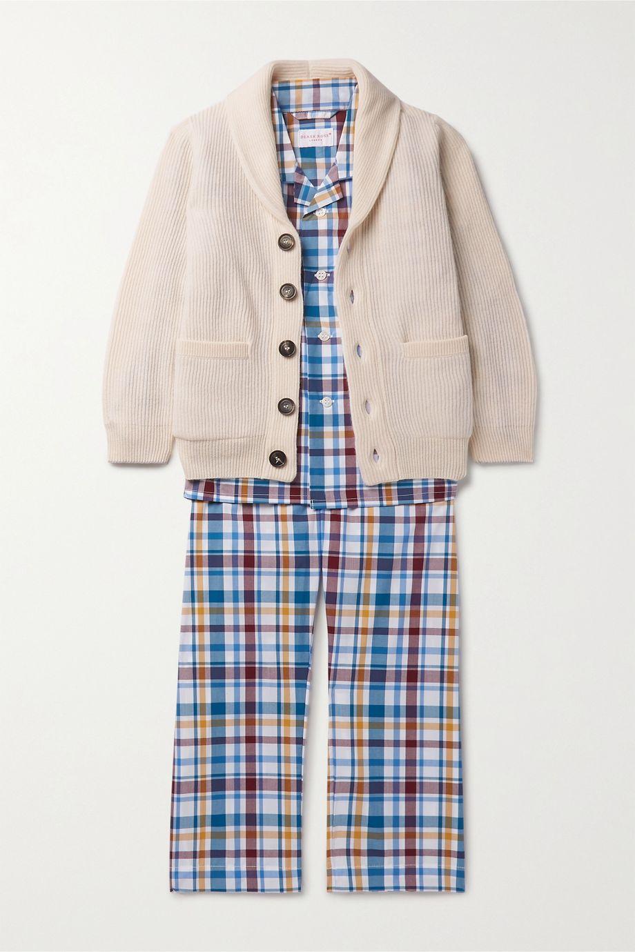 Derek Rose Kids 【3 - 12 岁】格纹纯棉睡衣套装