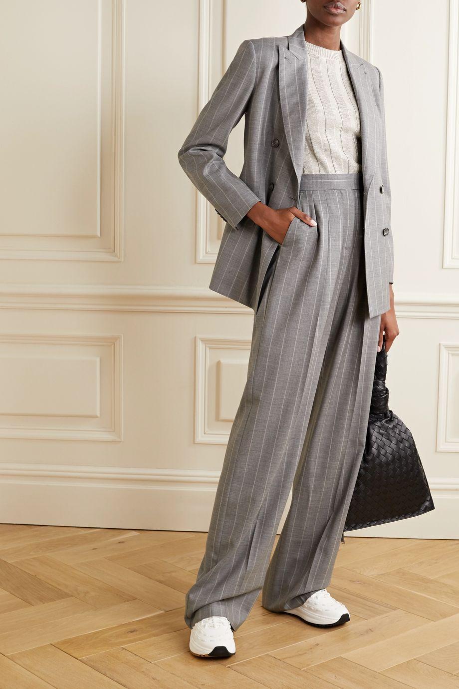 Brunello Cucinelli Ribbed metallic cotton-blend sweater