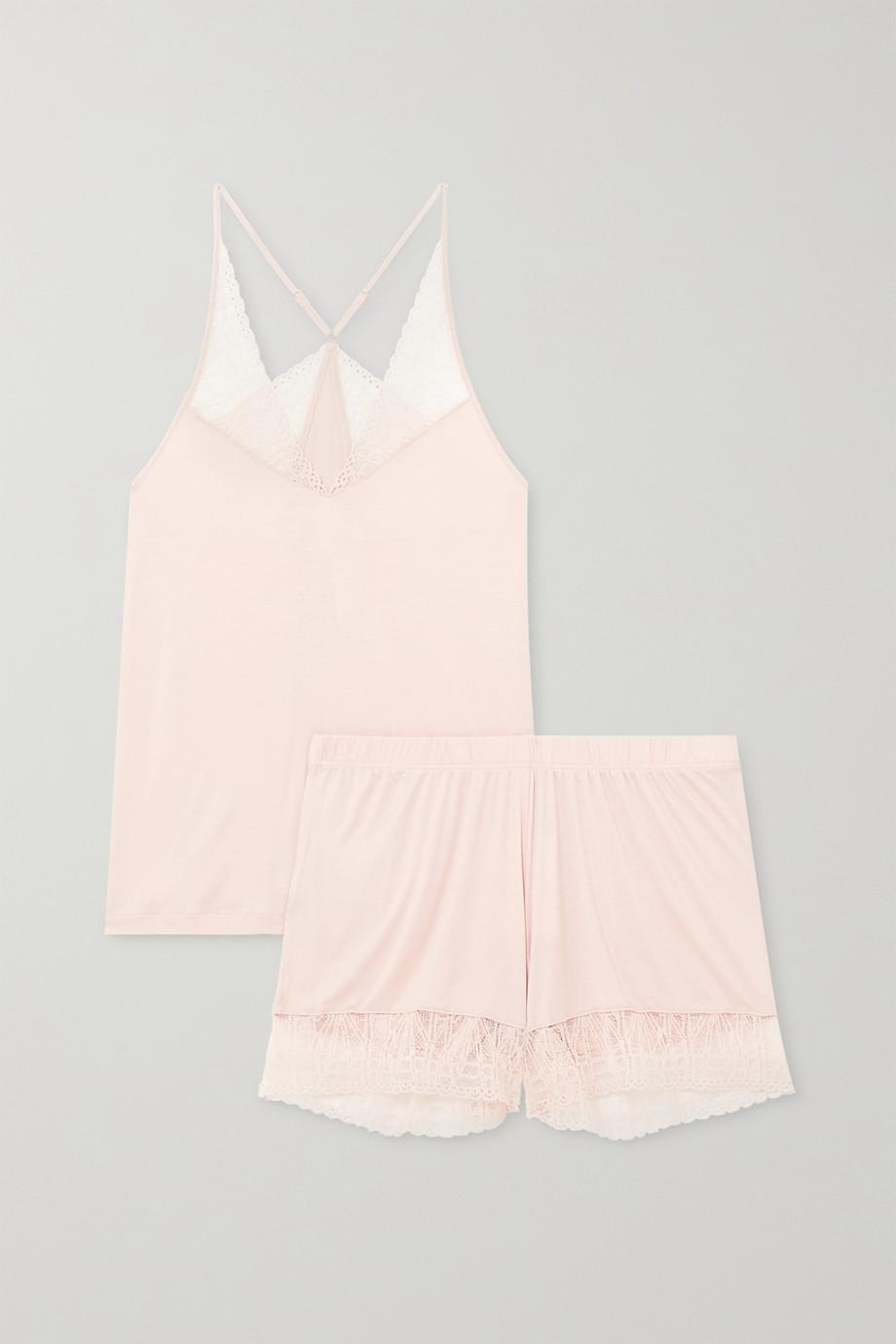Hanro Imani stretch lace-trimmed modal pajama set