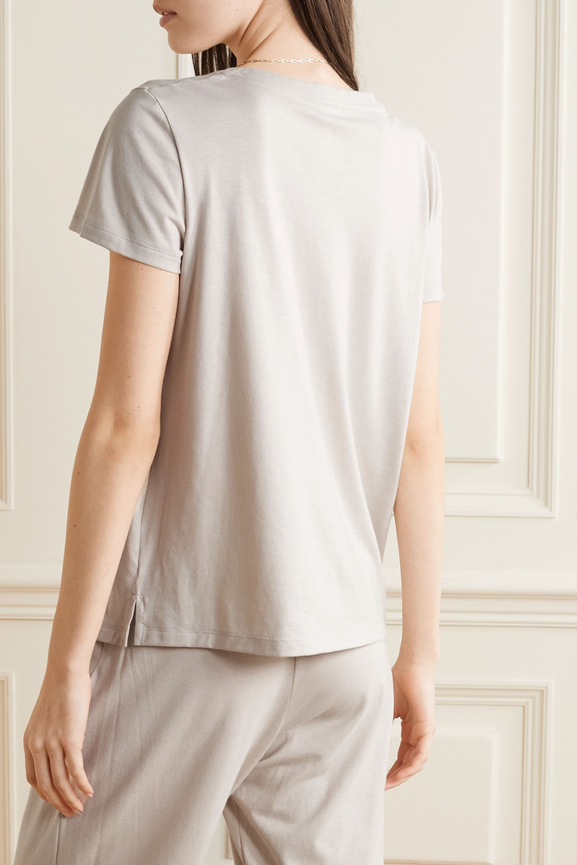 Hanro Cotton and modal-blend jersey pajama top