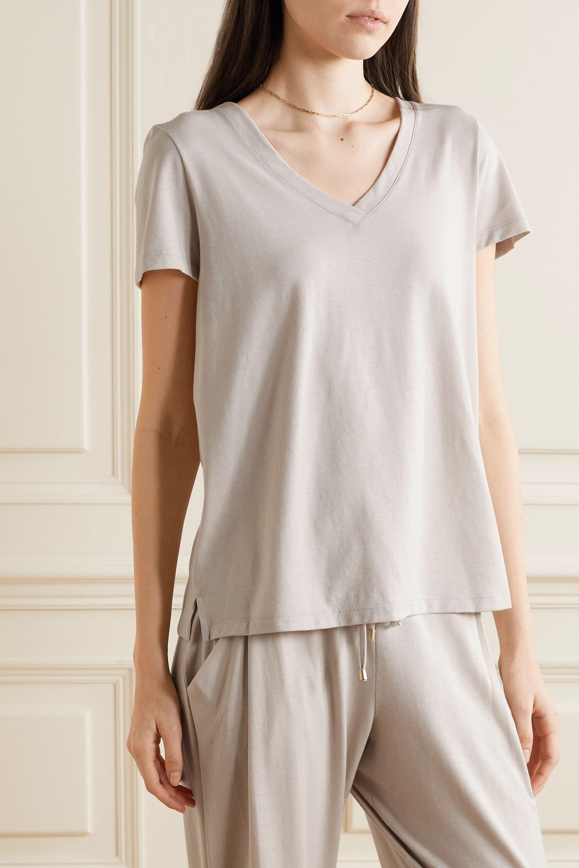 Hanro Haut de pyjama en jersey de coton et modal mélangés