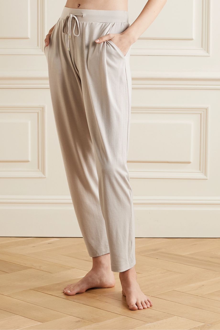 Hanro Cotton and modal-blend jersey pajama pants