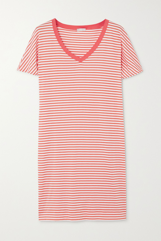 Hanro Laura striped cotton and modal-blend nightdress