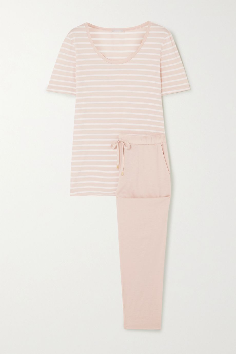 Hanro Laura striped cotton and modal-blend jersey pajama set