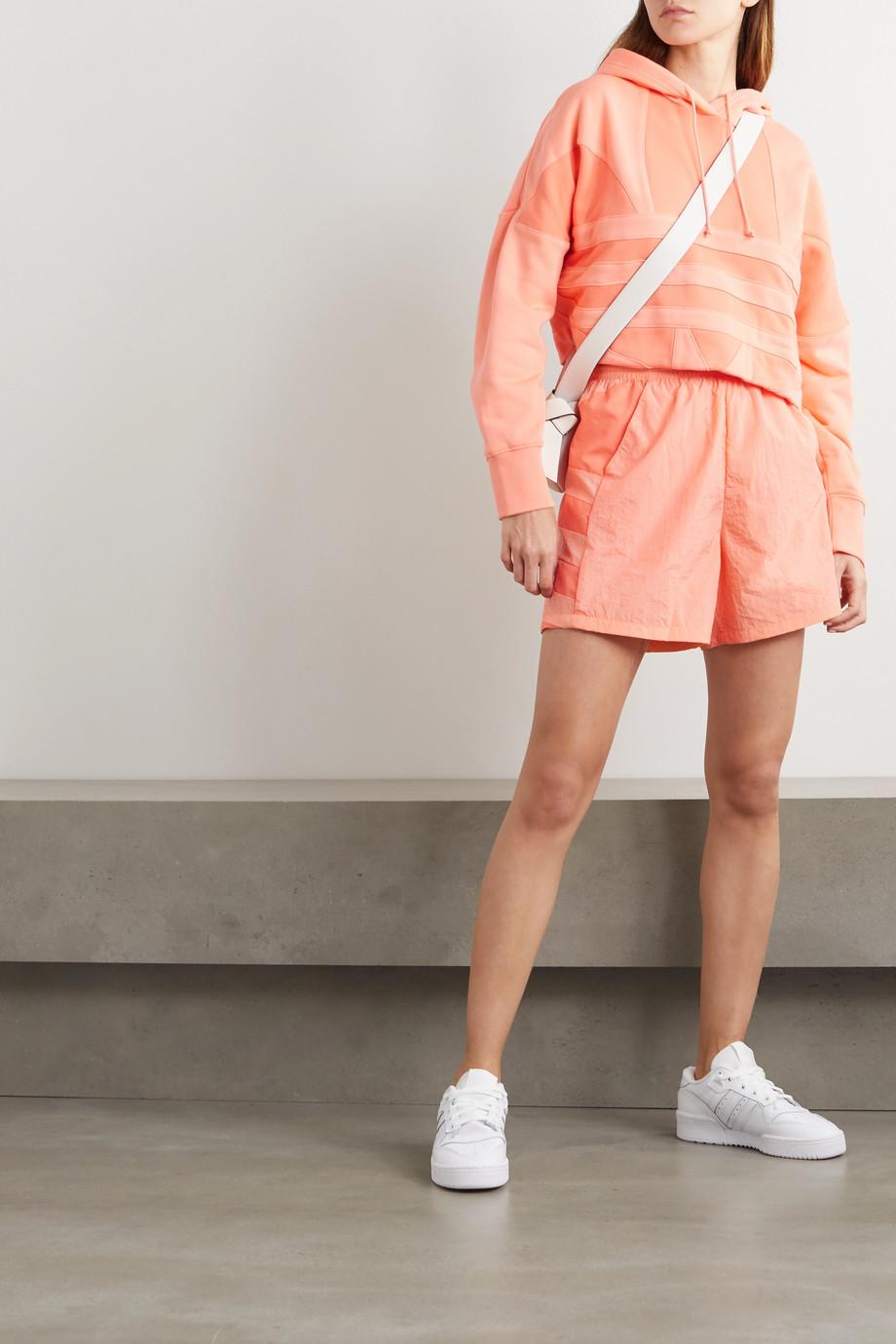 adidas Originals Adicolor verkürzter Hoodie aus Baumwollfrottee