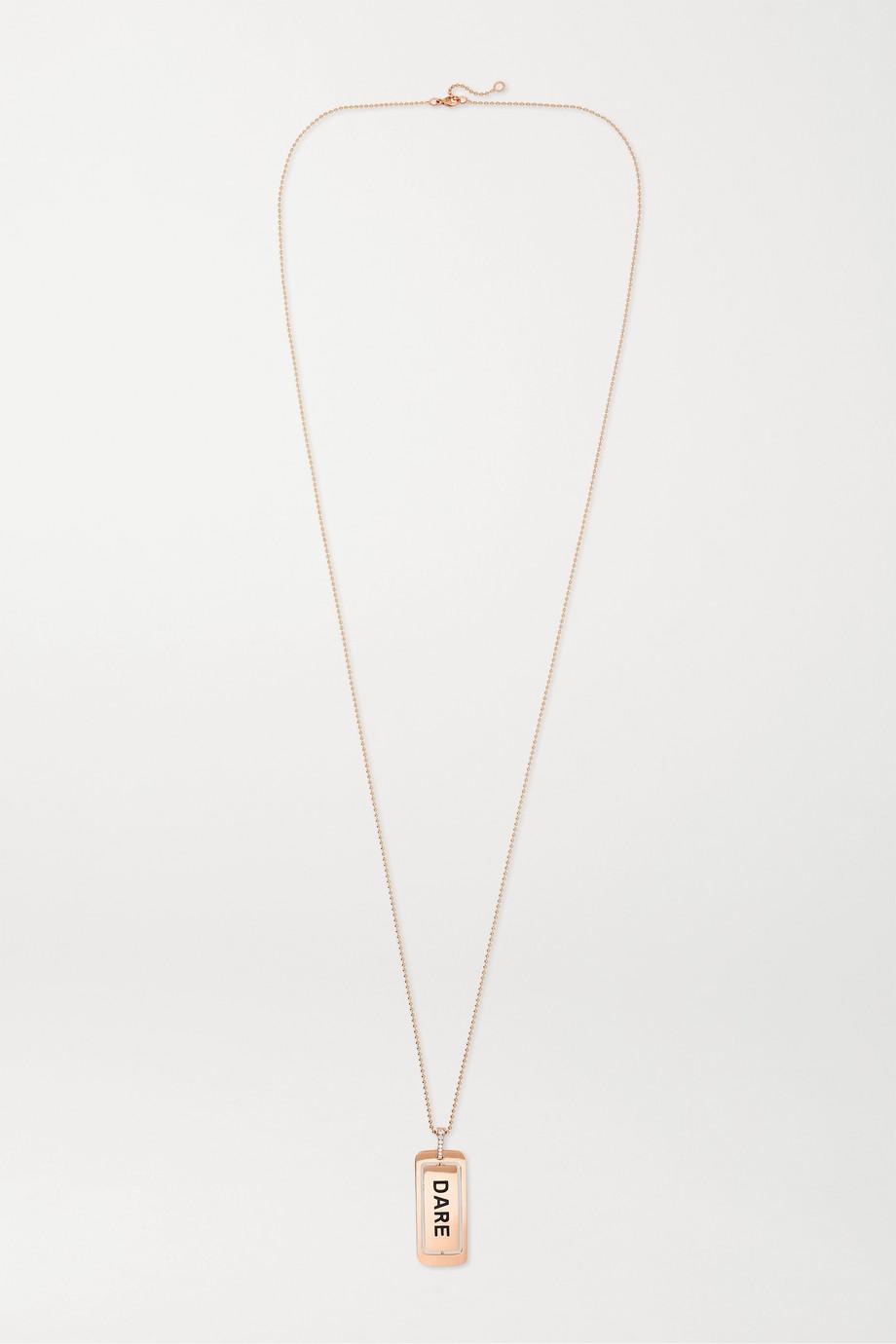 Diane Kordas Collier en or rose 18 carats, émail et diamants
