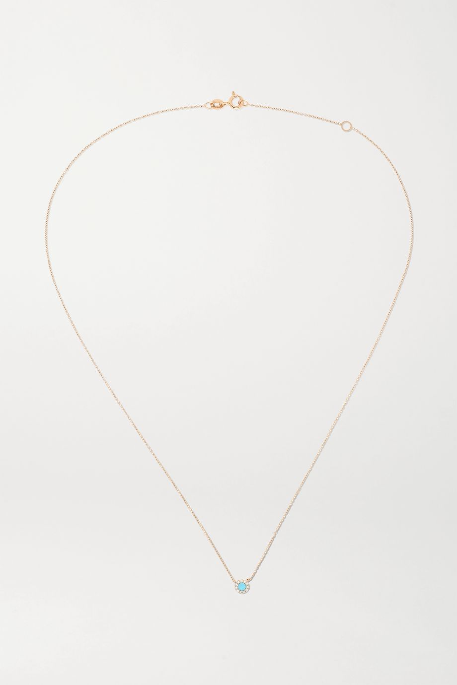 Diane Kordas 18K 玫瑰金、绿松石、钻石项链