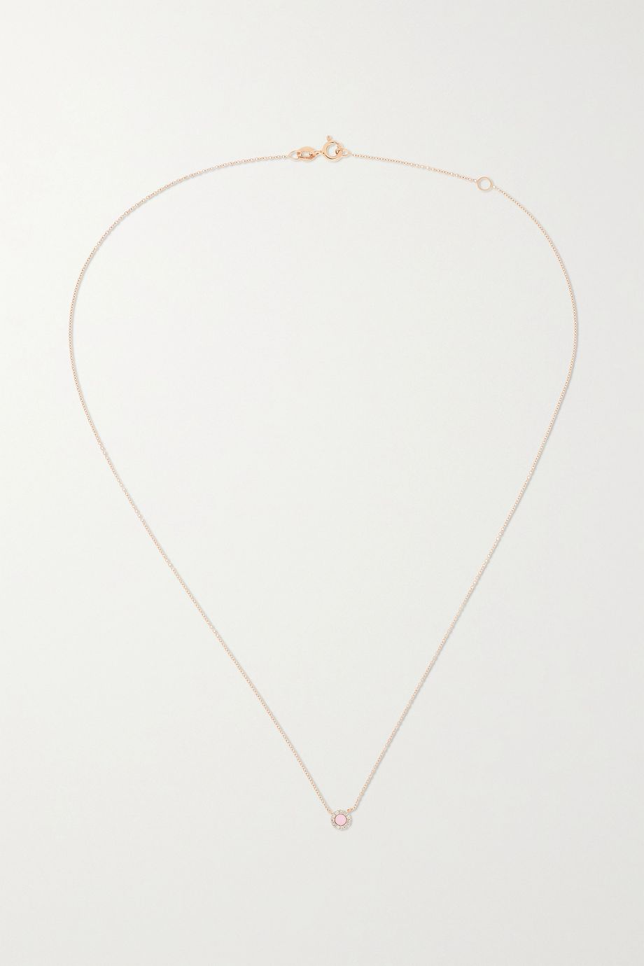 Diane Kordas 18-karat rose gold, coral and diamond necklace