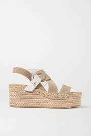 rag & bone August suede and leather espadrille platform sandals