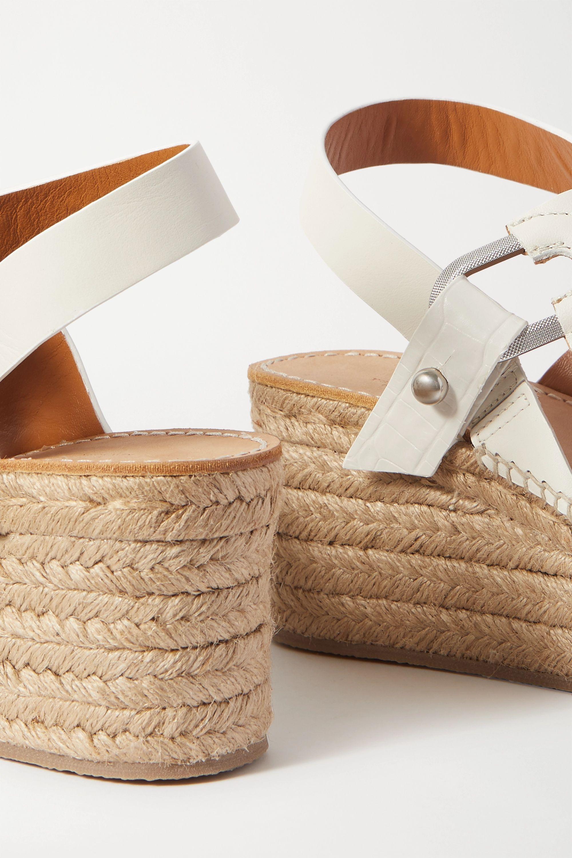 rag & bone Sandales à plates-formes façon espadrilles en cuir August