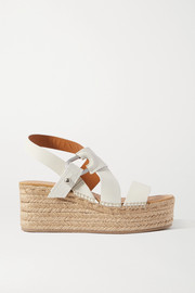 rag & bone August leather espadrille platform sandals