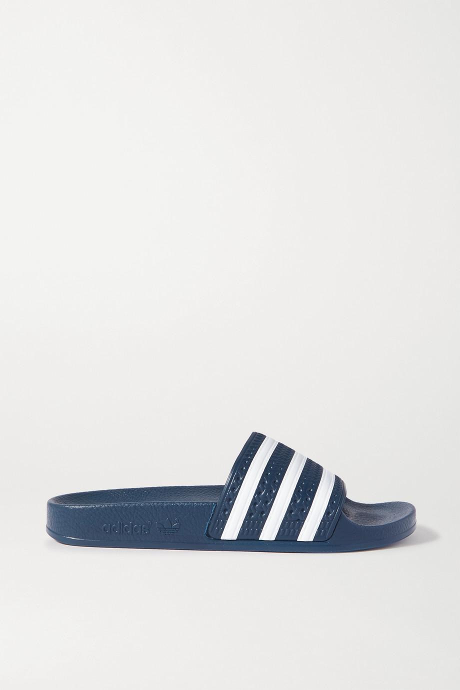 adidas Originals Claquettes en caoutchouc à rayures Adilette