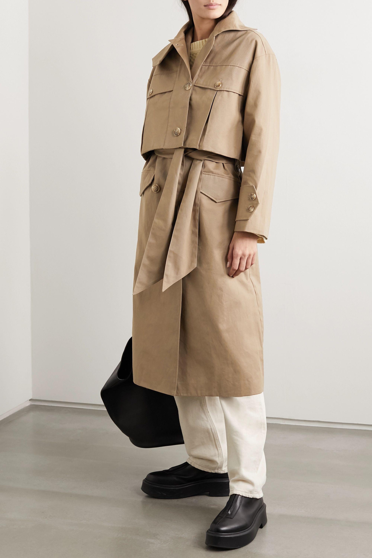 Holzweiler Granateple convertible cotton-gabardine trench coat