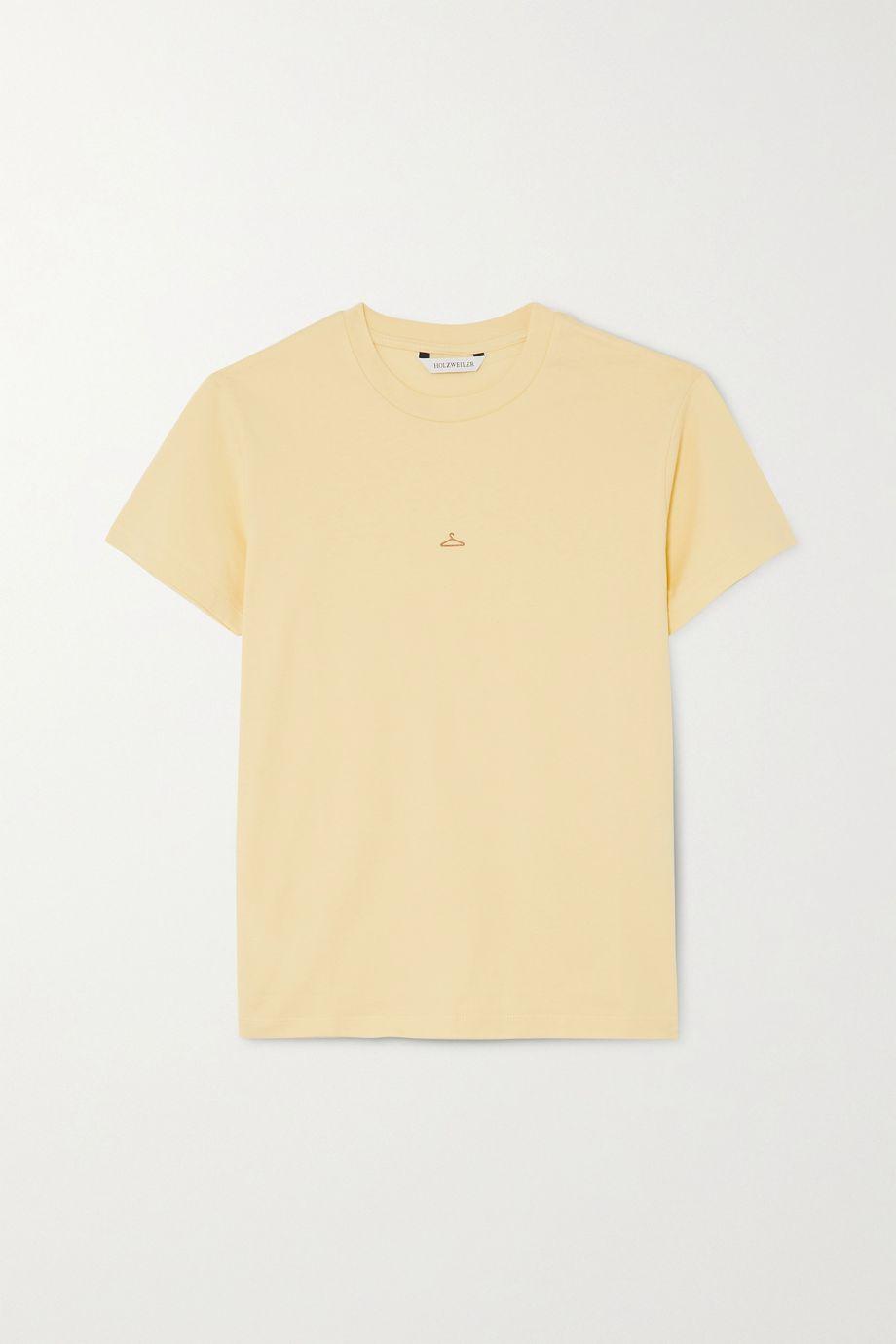 Holzweiler Suzana appliquéd cotton-jersey T-shirt