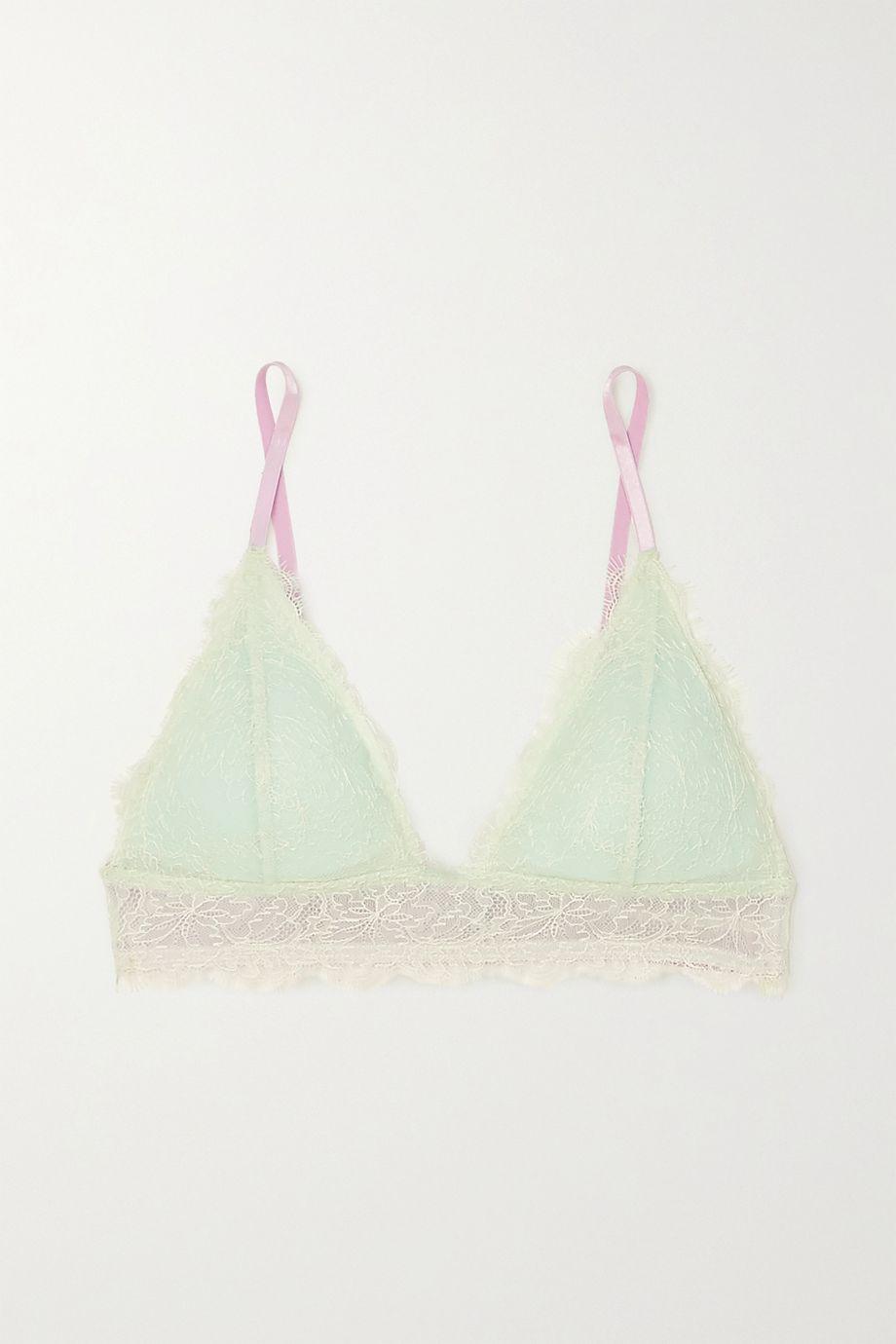 Dora Larsen Marlowe stretch-lace soft-cup triangle bra