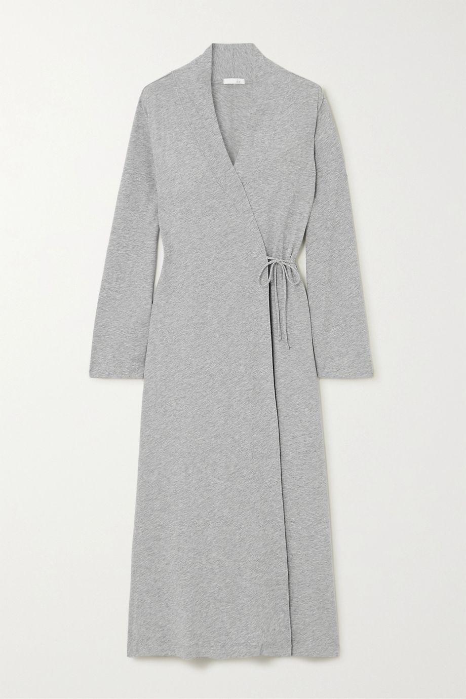 Skin Mélange Pima cotton-jersey robe