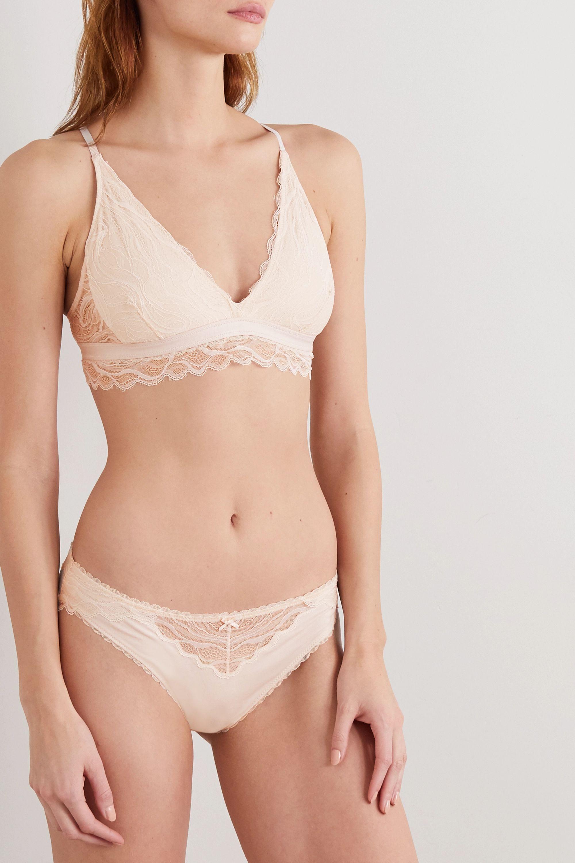 Skin Serafina stretch-organic Pima cotton-jersey and lace soft-cup triangle bra
