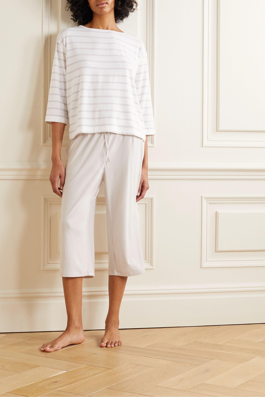 Skin Mathilde 条纹弹力平纹布上衣