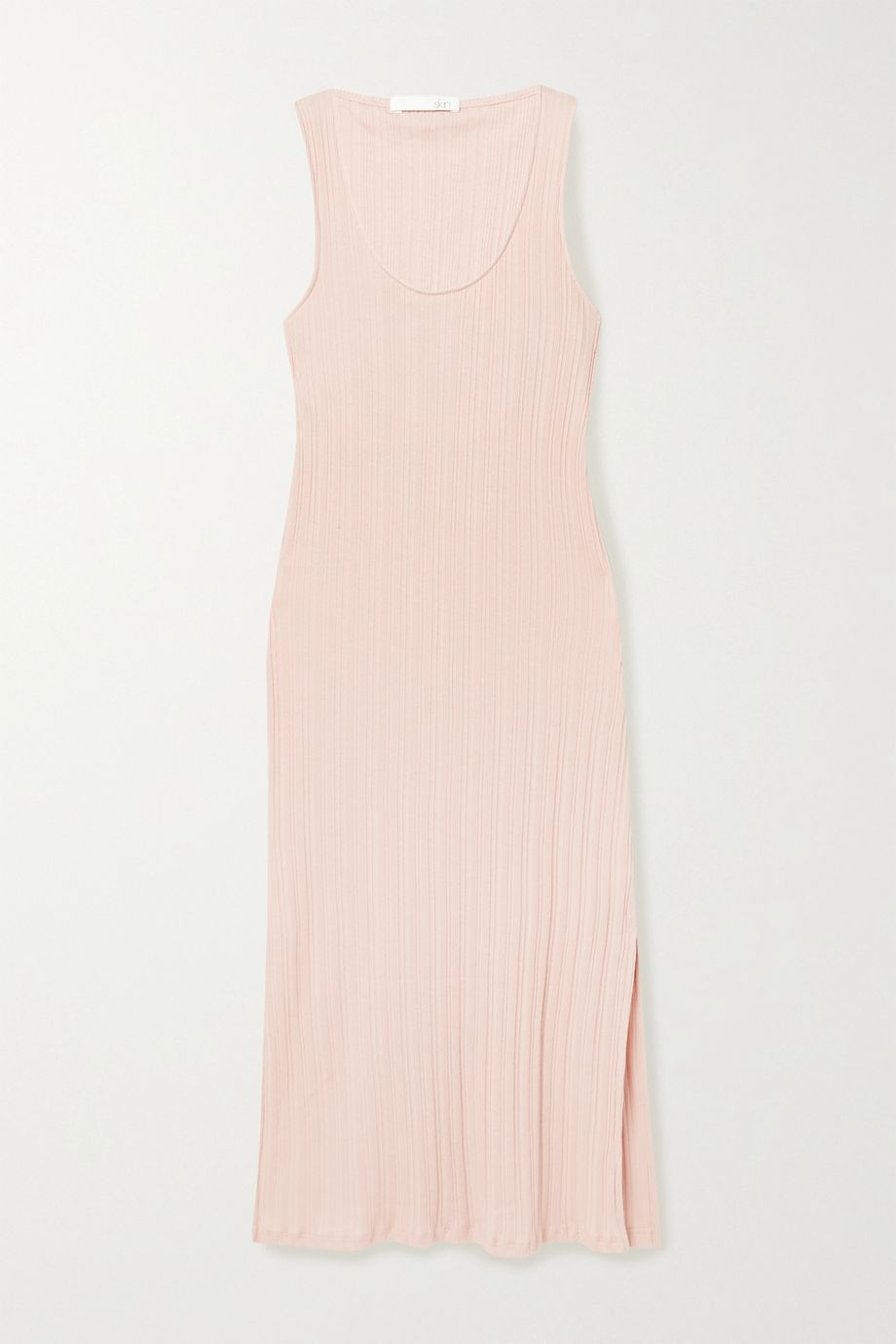 Skin Rozlyn Nachthemd aus geripptem Pima-Baumwoll-Jersey