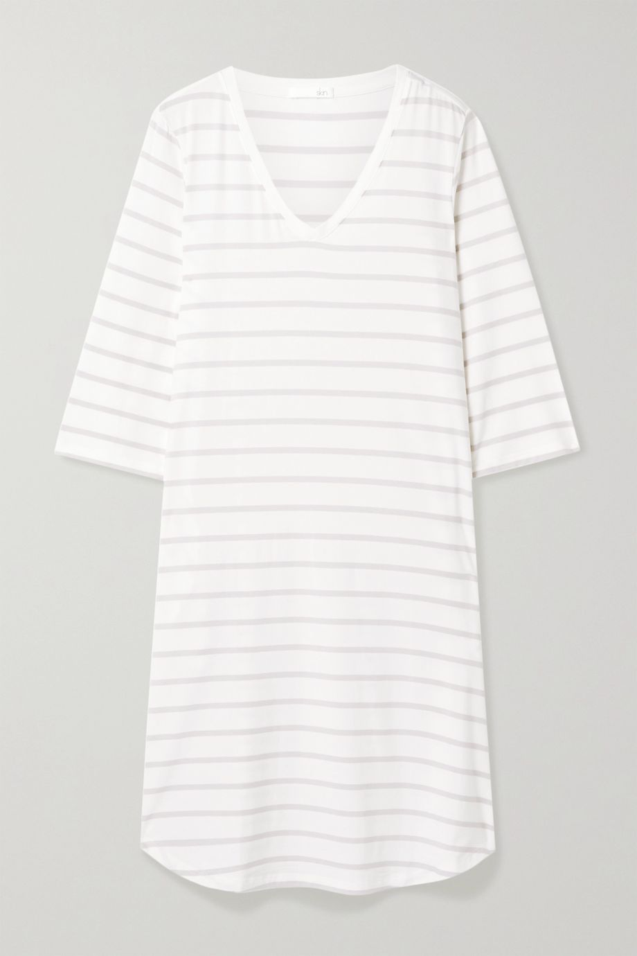 Skin Mirielle striped stretch-jersey nightdress