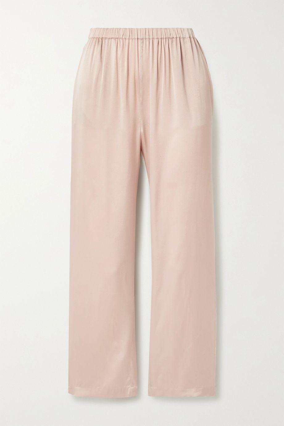 Skin Washed stretch-silk satin pants
