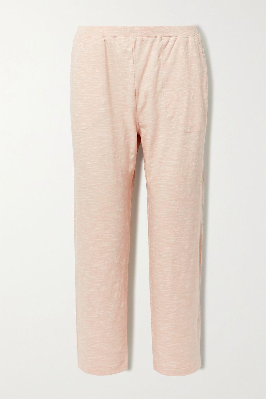 Skin Fabianne cropped slub cotton-jersey pants