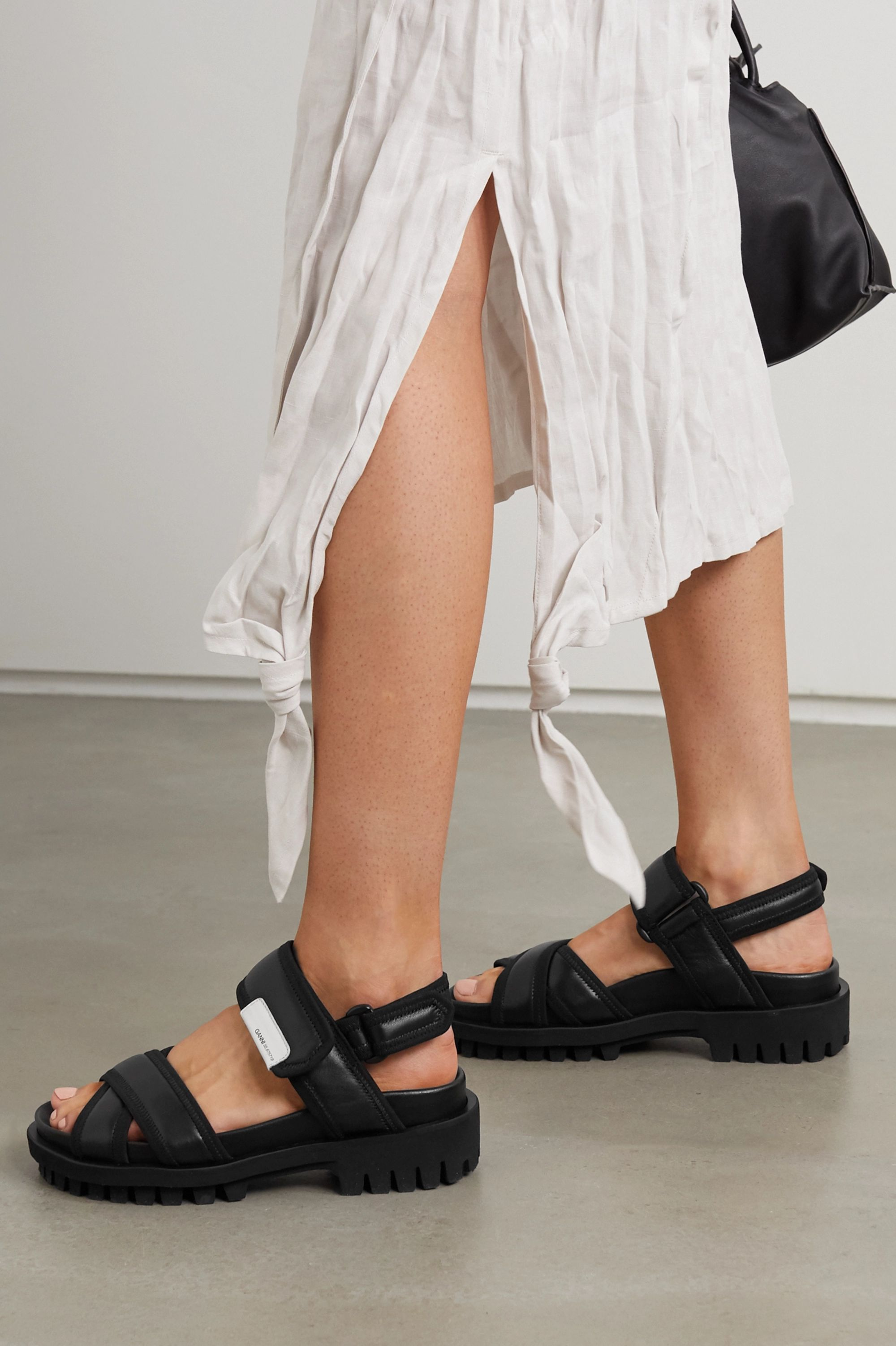 GANNI Hiking leather sandals