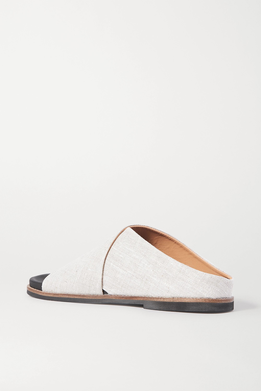 GANNI Mélange canvas sandals