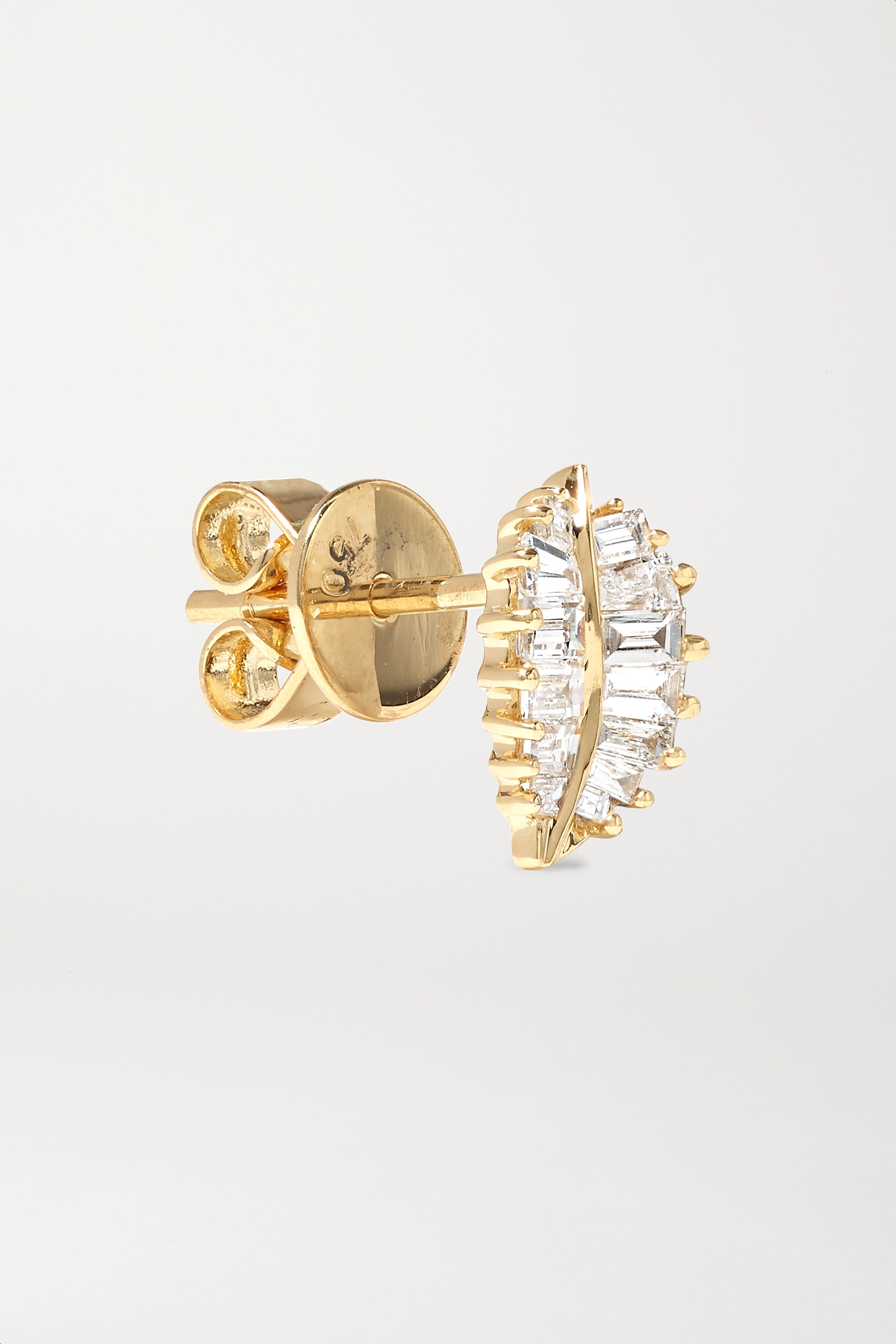 Anita Ko Small 18-karat gold diamond earrings