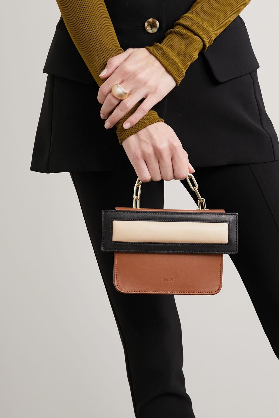 The Sant Himitsu Bako mini color-block leather tote