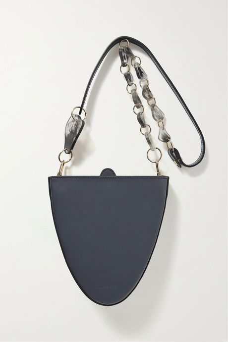 Anthracite Cyssus leather and resin shoulder bag | Naturae Sacra jQZuMR