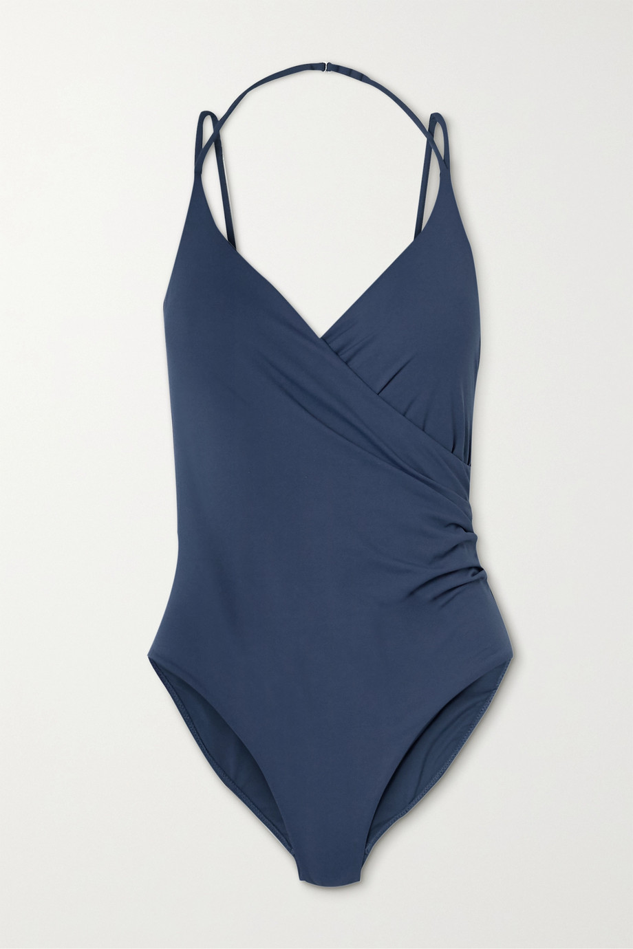 Skin The Perry wrap-effect swimsuit