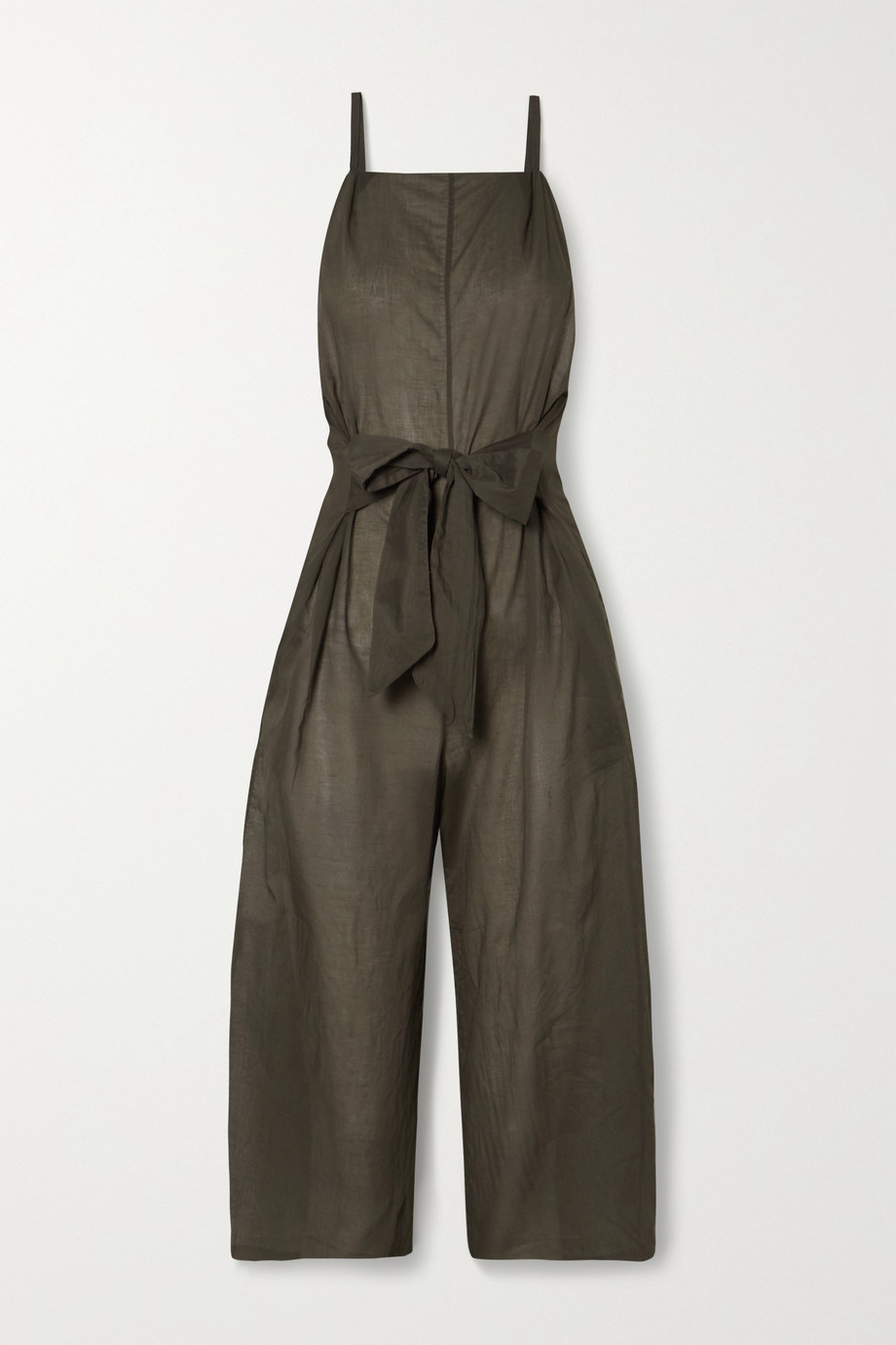 Skin Brisa 正面系带式纯棉巴里纱连身裤